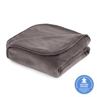 The Vellux Heavy Weight 15 Pound Weighted Charcoal Gray Throw