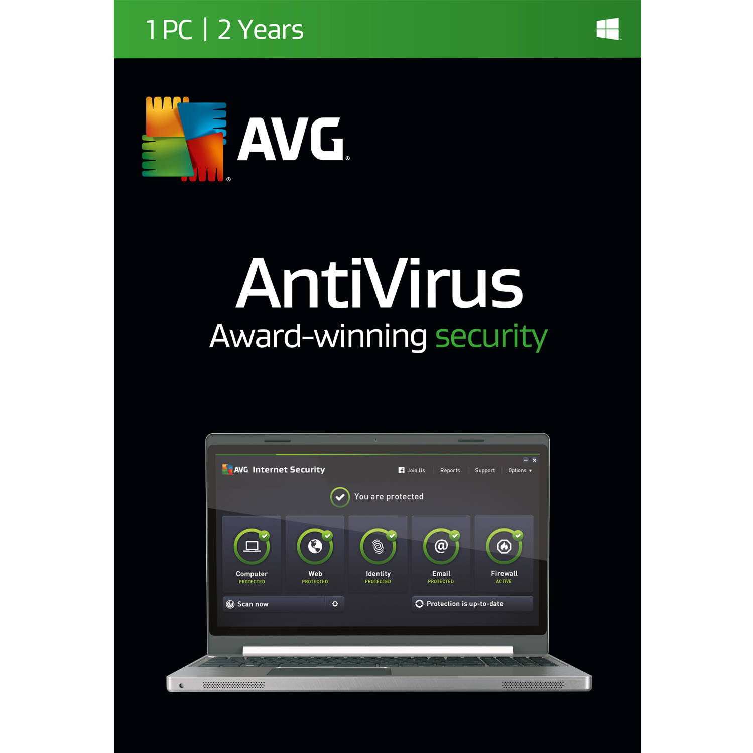 AVG AntiVirus Software, 1 User/ 2 Years