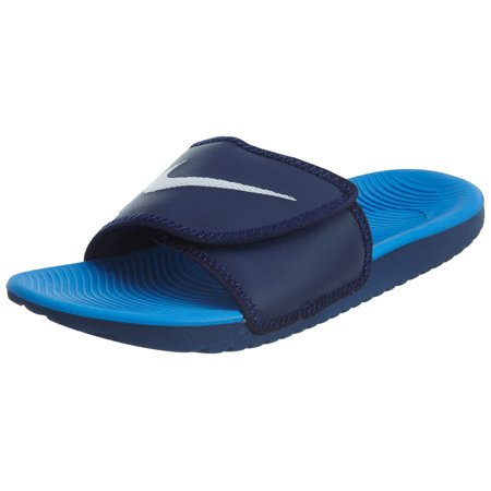 ac9521d7d694 Nike - Nike Men s Kawa Adjustable Slide Sandals Binary Blue White ...
