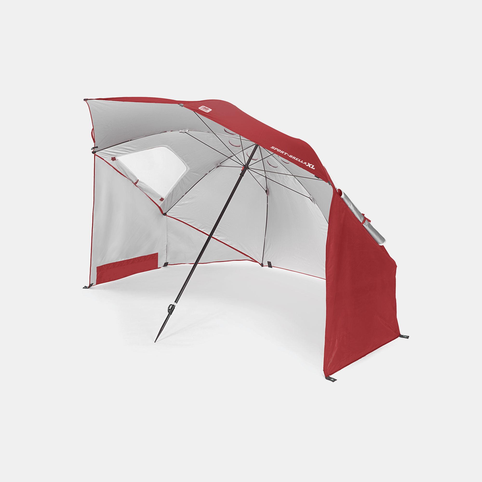 Sport-Brella XL Umbrella Portable Canopy, Deep Red by Sport-Brella