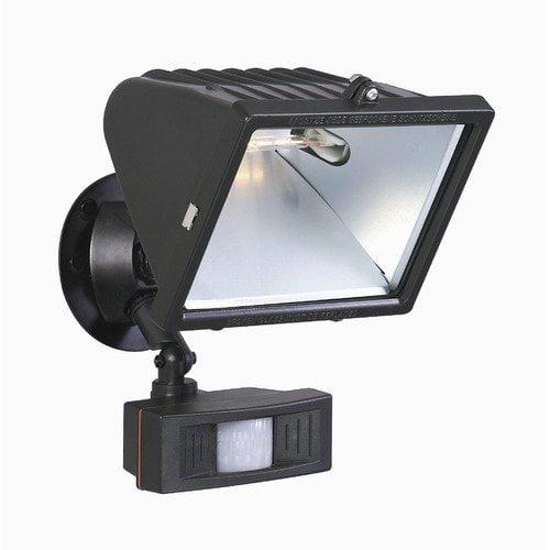 Wistaria Lighting Lighting 12'' Two Light Flood Light with Motion Sensor in Black