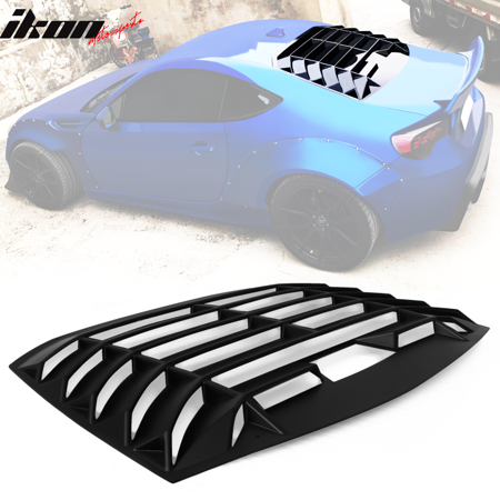 Compatible with 13-19 Scion Frs Subaru Brz Ikon Style Rear Window Shield Louver Abs Truck Window Louvers