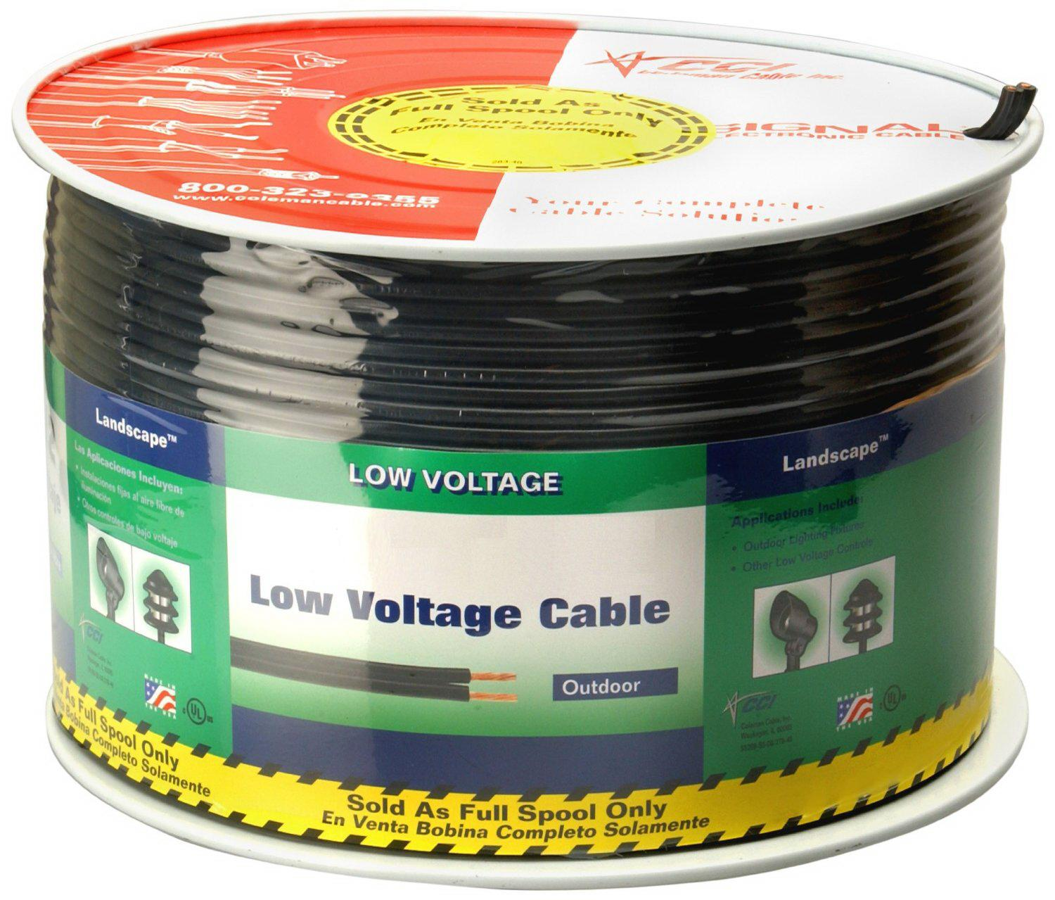 Coleman Cable 552690408 12 2 Low Voltage Lighting 250 Foot Wiring Supplies