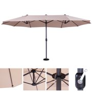 Best 13ft Umbrella Canopies - Jaxpety 15 Ft Outdoor Market Umbrella Patio Sun Review
