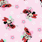 "Springs Creative Disney Minnie Floral Badges 43"" wide Fabric by the Yard"