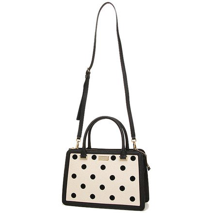 Kate spade polka dot purse compare prices at nextag kate spade bixby place fabric lise satchel cross body bag junglespirit Image collections