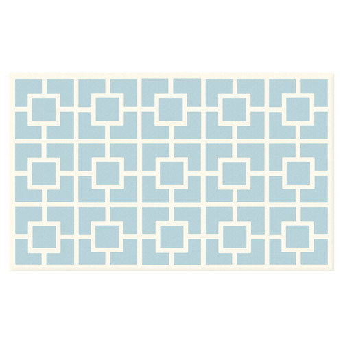 Wildon Home  Capreece Blue/White Area Rug