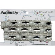 Designs (TM) Iron-Ons By Mark Richards 27 Inch Strips-Rhinestone &