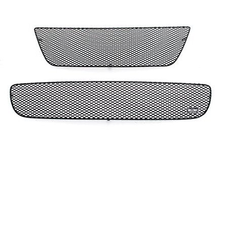 GrillCraft F5017-18B MX Series Black Upper 1pc & Lower 1pc Mesh Grill Grille Insert for Ford Mustang Cobra