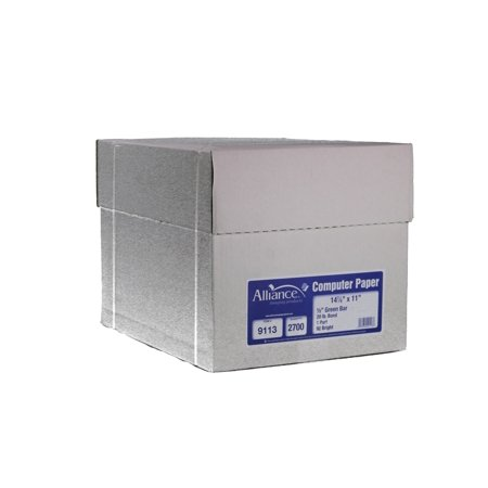 Alliance Continuous Computer Paper, 14-7/8x11