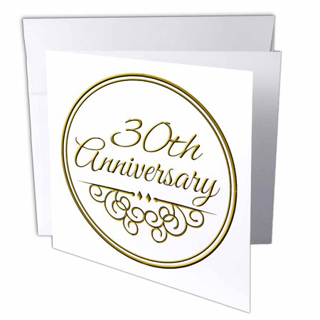 30 Years Wedding Anniversary Gifts.3drose 30th Anniversary Gift Gold Text For Celebrating Wedding Anniversaries 30 Years Married Together Greeting Cards 6 X 6 Inches Set Of 12