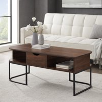 Cimarron Modern Coffee Table with Two-Way Drawer by Manor Park - Multiple Finishes