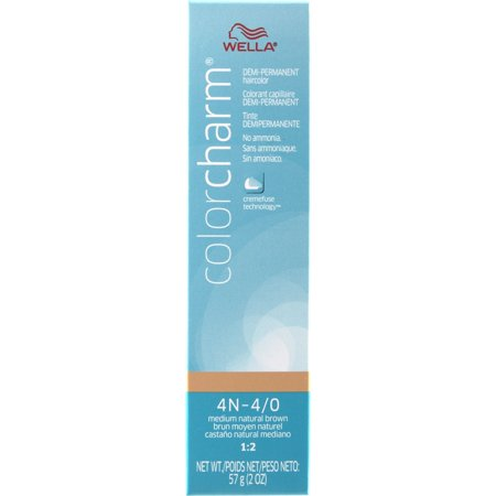 WELLA COLOR CHARM Demi Permanent Medium Natural Brown Gel Hair HC-D4N