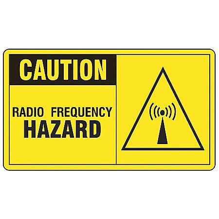 "Caution Radiation Sign, Accuform Signs, MRFQ601VS, 7""Hx10""W"