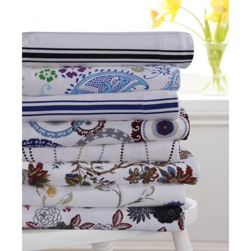 Flannel 170-GSM Printed Extra Deep Pocket Sheet Set Queen Sheet Set - Medallion