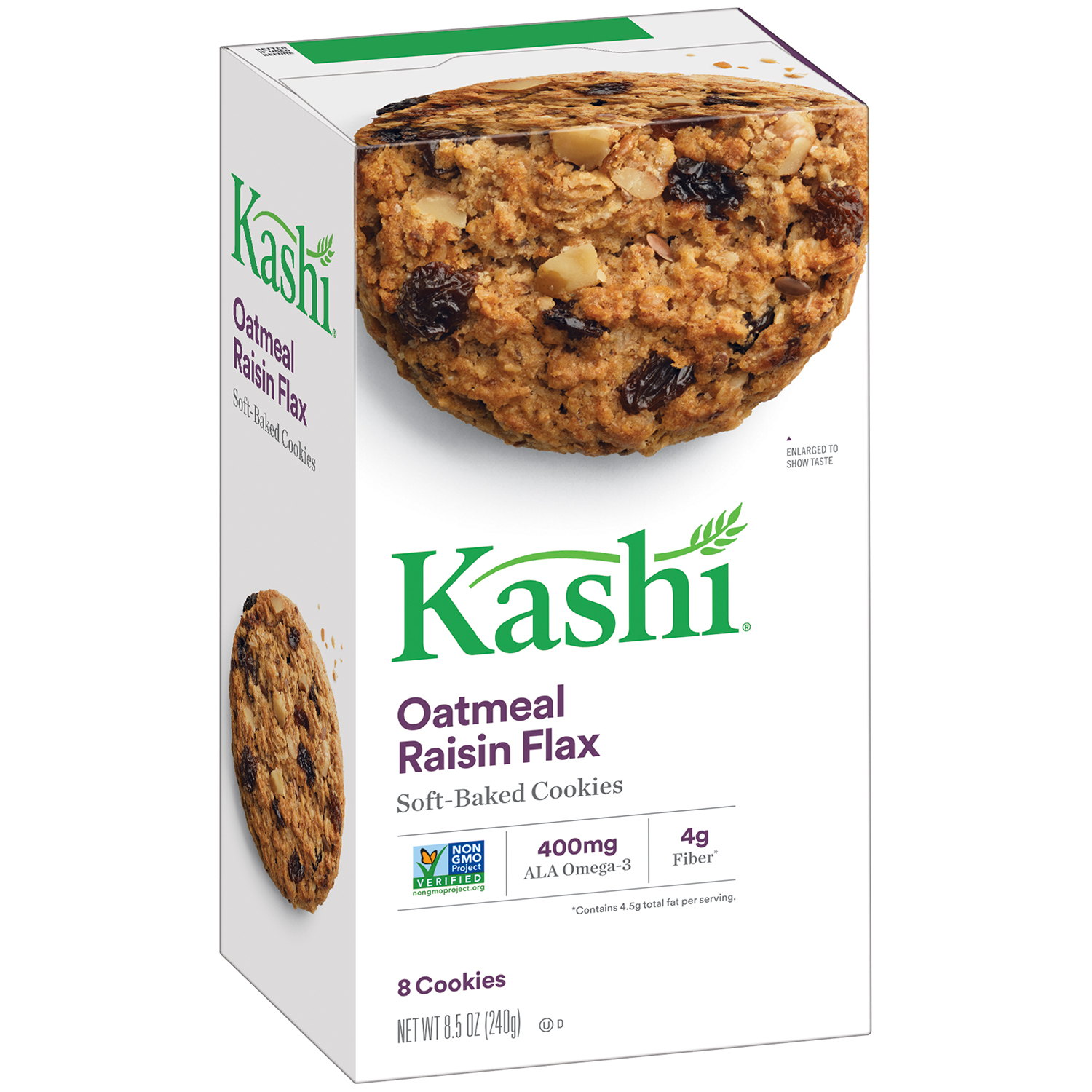 Kashi Oatmeal Raisin Flax Soft Baked Cookies, 8 count, 8.5 oz