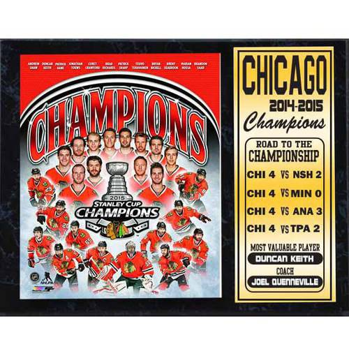 "12"" x 15"" Stat Plaque, 2015 Stanley Cup Champions Chicago Blackhawks"