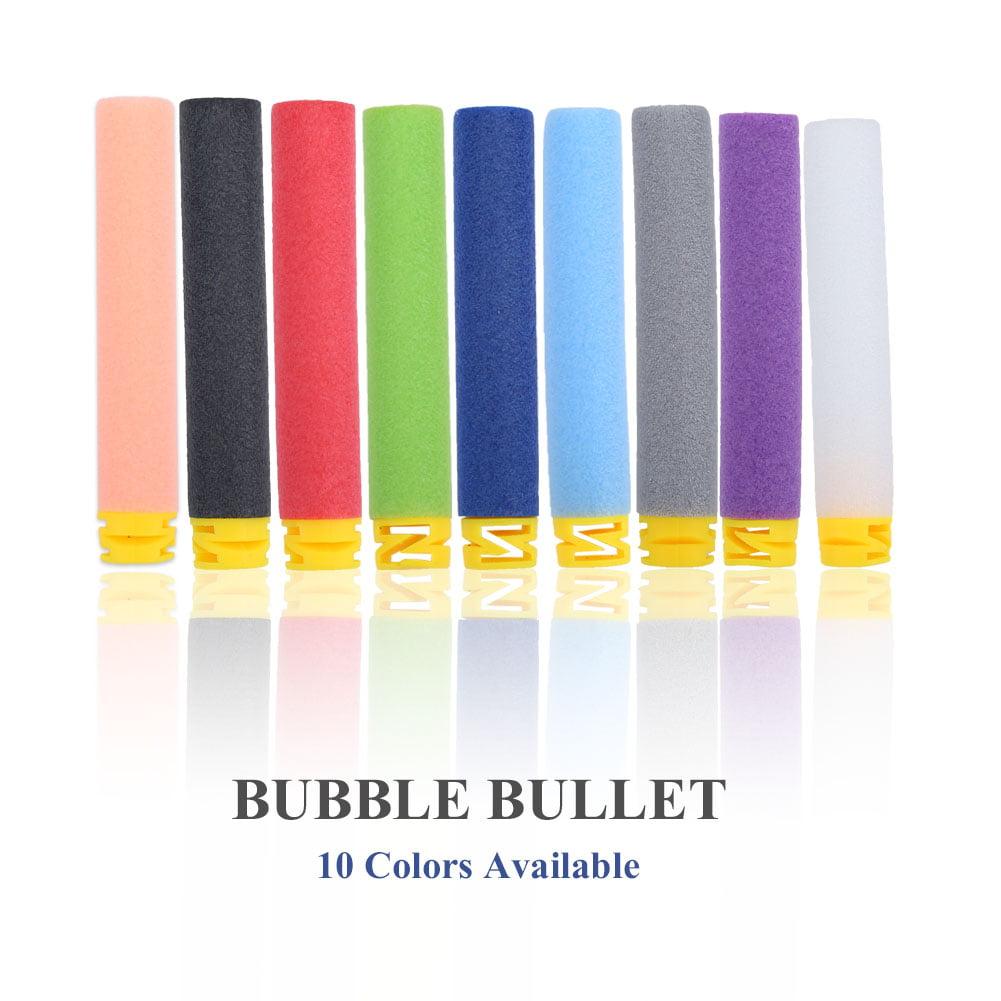 HURRISE 100pcs 10 Colors Toy Soft Refill Bullets Darts EVA Foam for Elite Series,EVA Refill Bullet,Toy Gun Soft Bullet