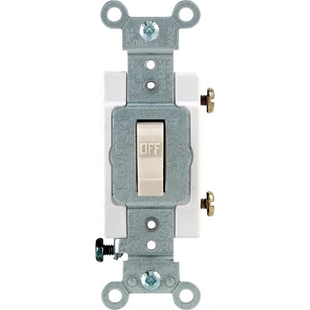 Leviton S16-CS120-2TS 20A 120/277V Light Almond Commercial Specification Grade 1 Pole Toggle Switch