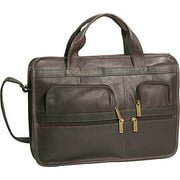 David King Leather Laptop Organizer Briefcase