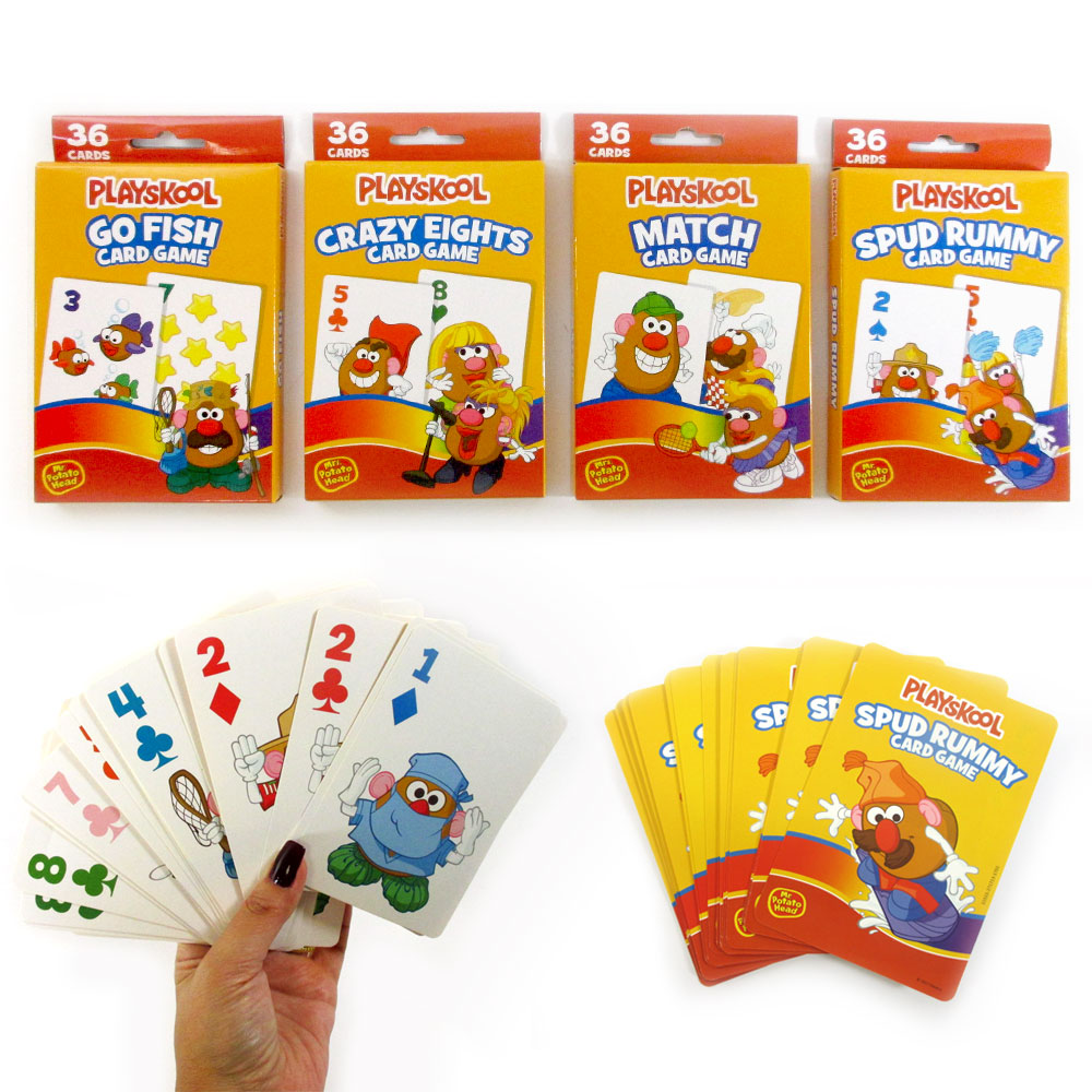 4Pk Playskool Kids Playing Cards Game Learn Fun Go Fish Match Crazy Eight Play by Regent Products