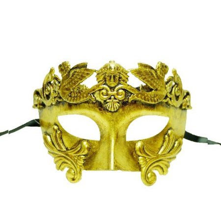 Roman Style Venetian Hand Painted Mask In Gold  The Mask Has A Gold Aged Effect Finish By Best Deal Ever