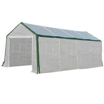 Outsunny 20'L x 10'W x 8'H Heavy-Duty Greenhouse Walk-in Hot House