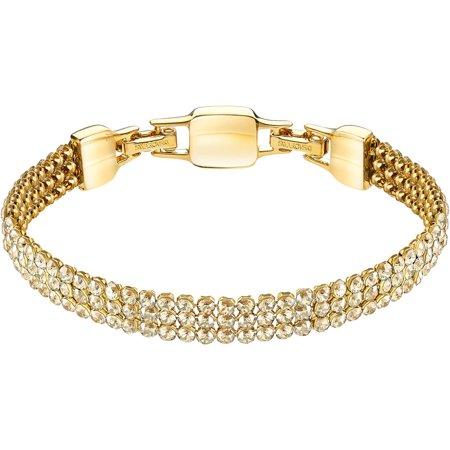 Swarovski Golden Crystal Mesh Bracelet CLIM Medium, Gold #5278718