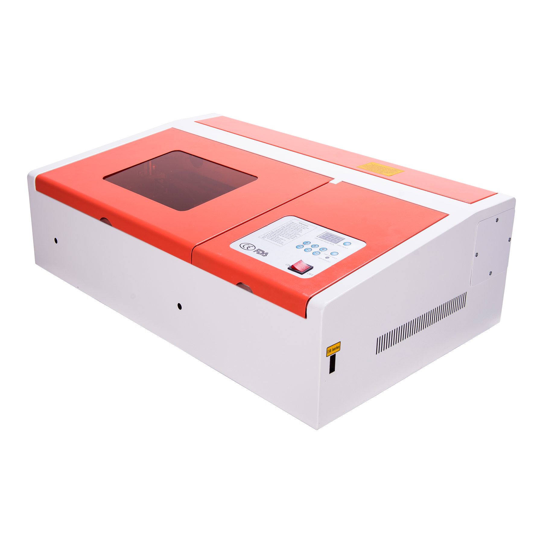 Upgraded 40W CO2 Laser Engraver Cutting Engraving Machine Water-Break Protection