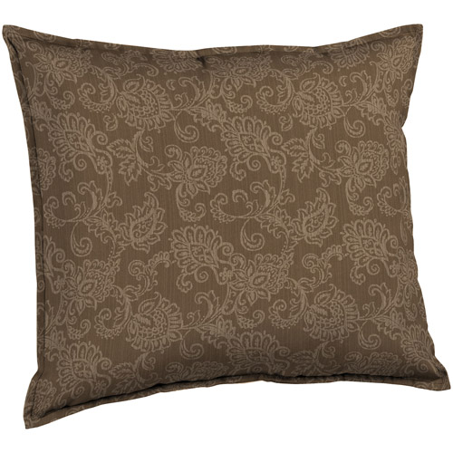 Better Homes and Gardens Deep Seat Pillow Back Outdoor Cushion, Tan Jaquard