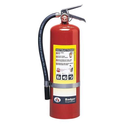 Badger 10 lb. Capacity, Fire Extinguisher, Dry Chemical, B10M