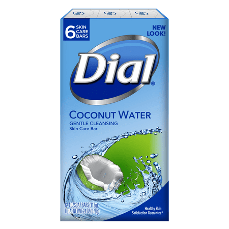 - Dial coconut water glycerin soap, 4 oz, 6 count