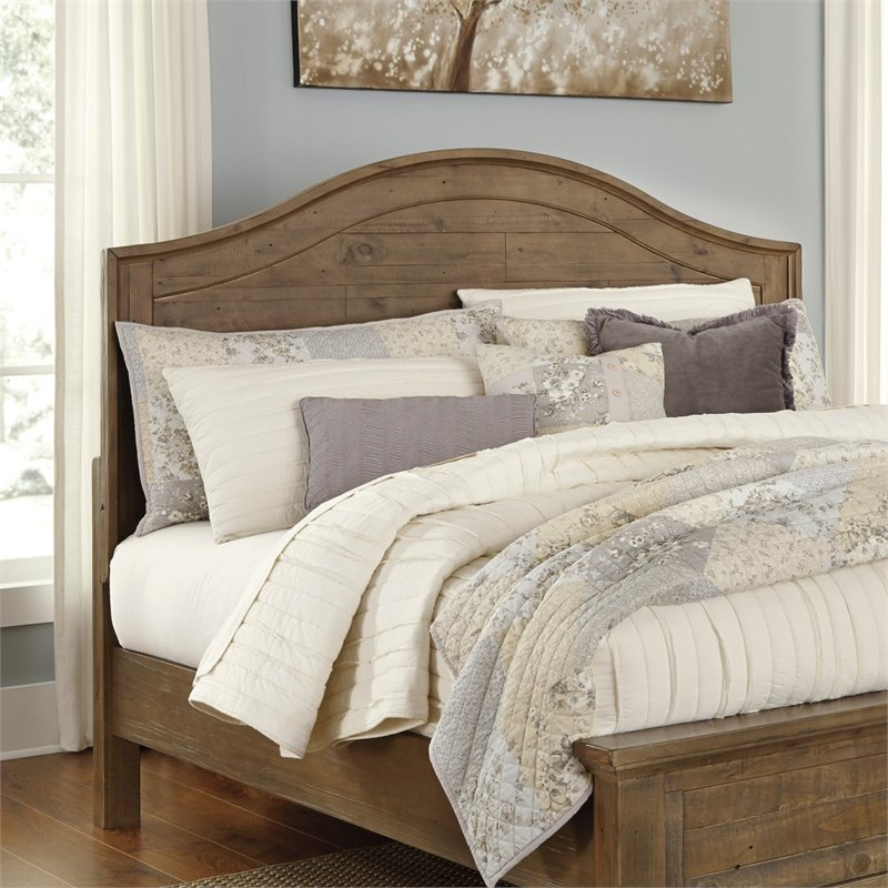 Ashley Trishley King California King Panel Headboard in Light Brown by Ashley Furniture