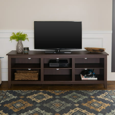 "Walker Edison Wood TV Media Storage Stand for TVs up to 78"" - Espresso"