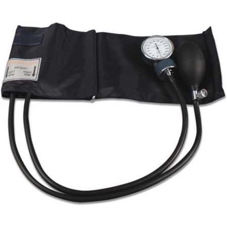 Aneroid Sphygmomanometer Palm Style Hand Held 2-Tube Adult Size Arm