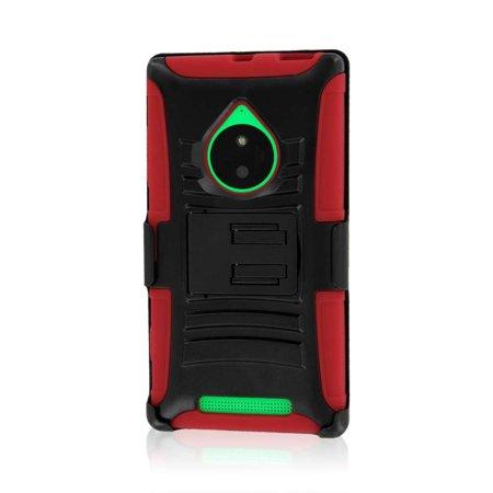 Nokia Lumia 830 Case, MPERO IMPACT XT Series Kickstand Case and Belt Clip Holster for Nokia Lumia 830 - Red (Nokia 830 Case Holster)