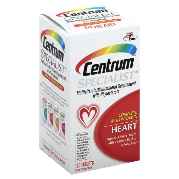 Centrum Specialist Adult Heart Multivitamin Tablets 120 Ct Walmart Com Walmart Com