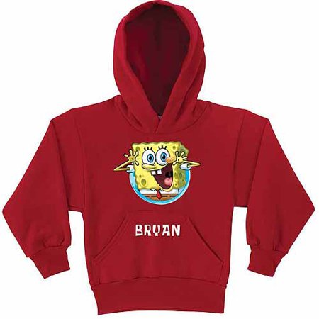 Personalized SpongeBob SquarePants Surprise Kids' Red Hoodie