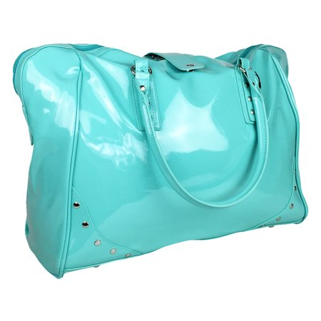 TrendyFlyer Large Duffel / Tote Gym Purse Bag  Turquoise