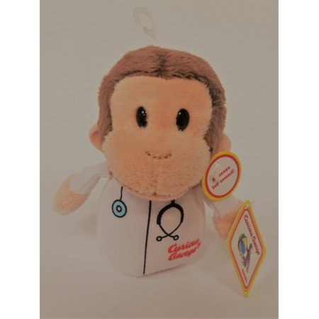 """Curious George Doctor 4"""" Plush"""
