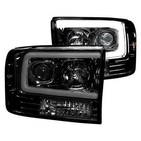 RECON 264192BKC Ford Superduty For 99 04 F250 F350 F450 PROJECTOR HEADLIGHTS