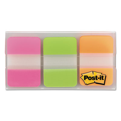 File Tabs, 1 x 1 1/2, Assorted Brights, 66/Pack, Sold as 1 Package, 66 Each per Package