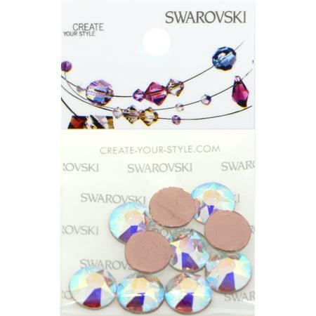 Swarovski 2078 Hot Fix Rhinestones FlatBack 40ss Crystal AB 10 pcs