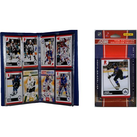 Hockey Album - C&I Collectables NHL Los Angeles Kings Licensed 2010 Score Team Set and Storage Album