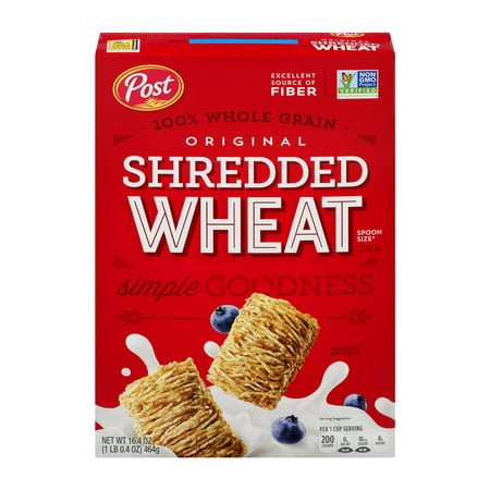 (2 Pack) Post Shredded Wheat Breakfast Cereal, Original, 16.4 Oz - 5 Halloween Monster Cereals