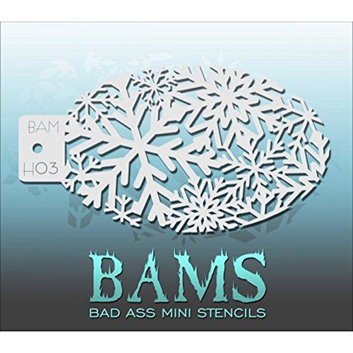Bad Ass Winter Sparkle Mini Stencil BAMH03
