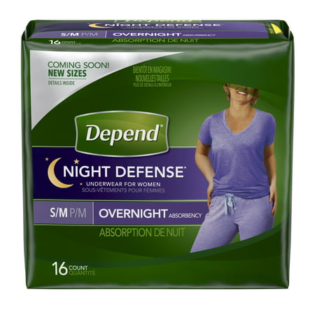17efac7ec93 Depend Night Defense Incontinence Overnight Underwear for Women