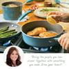 Rachael Ray 12-Piece Cucina Nonstick Pots and Pans Set/Cookware Set, Agave Blue