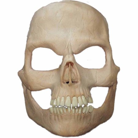 Skull Foam Latex Face Adult Halloween Accessory - Face Skull Halloween