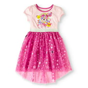 Shoppies Girls' Sprinkle Magic Graphic Short Sleeve Mesh Dress with Foil Print Stars